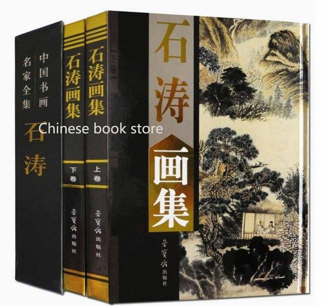 Shi Tao Paintings Works book Chinese traditional  brush  ink paintings drawing art books for collection  ,set of 2