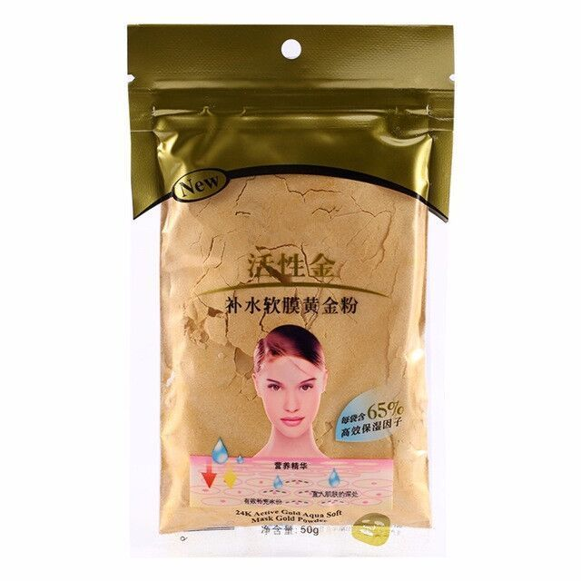 Golden Active Face Mask Powder Scars Acne Control 50g SPA Rose/Pearl/Lavender/Mint/Chamomile/Grape seed Facial Care Tool