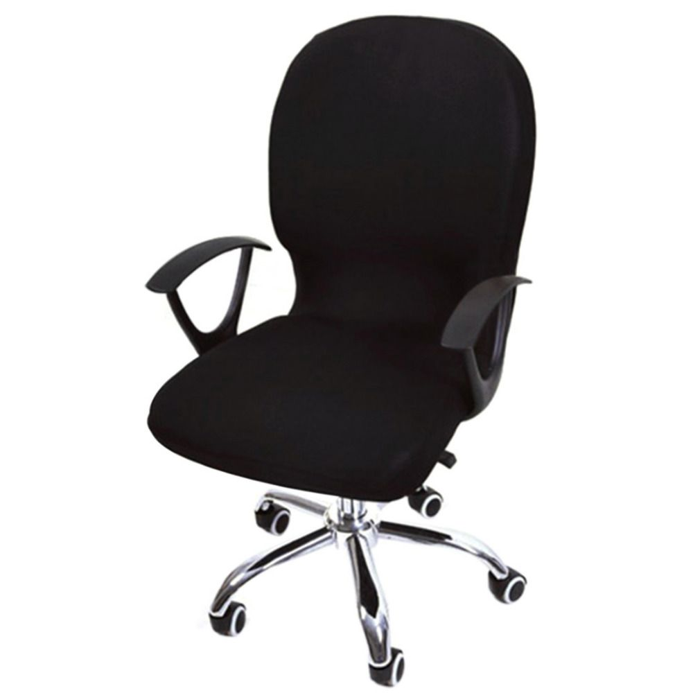 Elastic Spandex Office Chair Cover Seat Covers for Computer Chairs Stretch Rotating Chair Covering Computer Desk Seat Slipcover