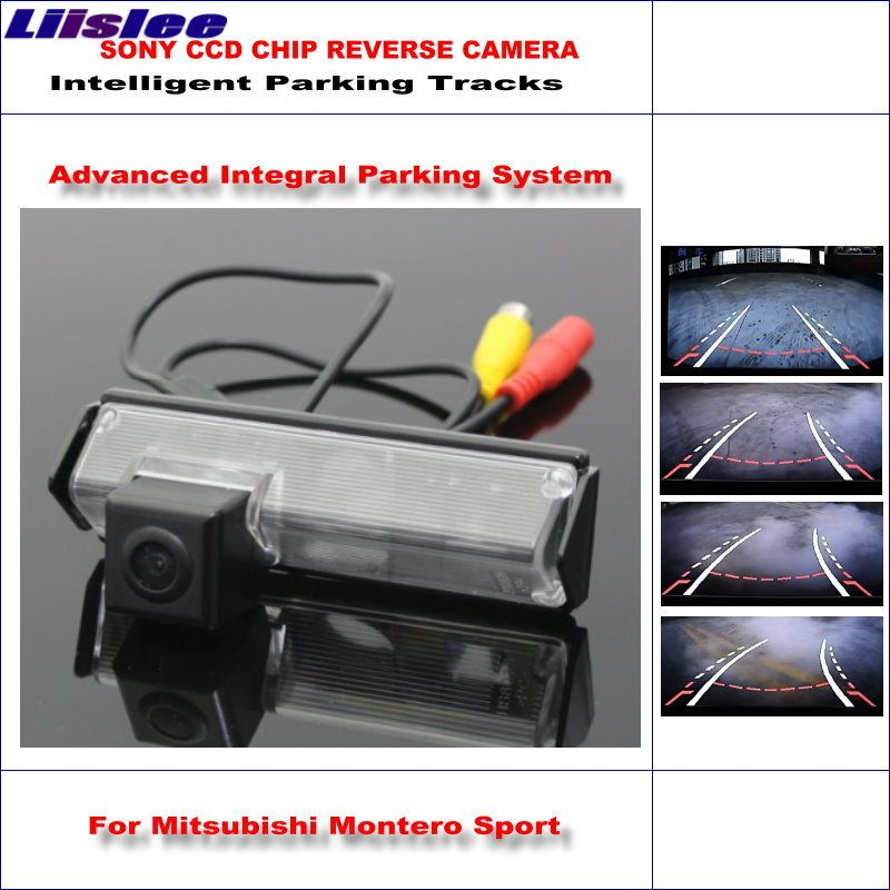 Liislee Rear Camera For Mitsubishi Montero Sport Intelligent Parking Tracks Backup Reverse / Dynamic Guidance Tragectory
