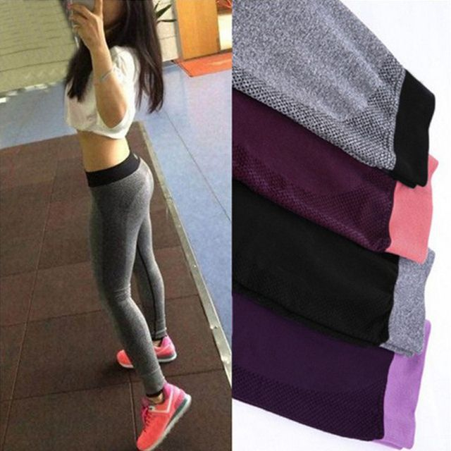 Hot sale women Sexy High Waist Stretched Clothes Spandex Quick-drying Womens Leggings Slim Fit Active Pants