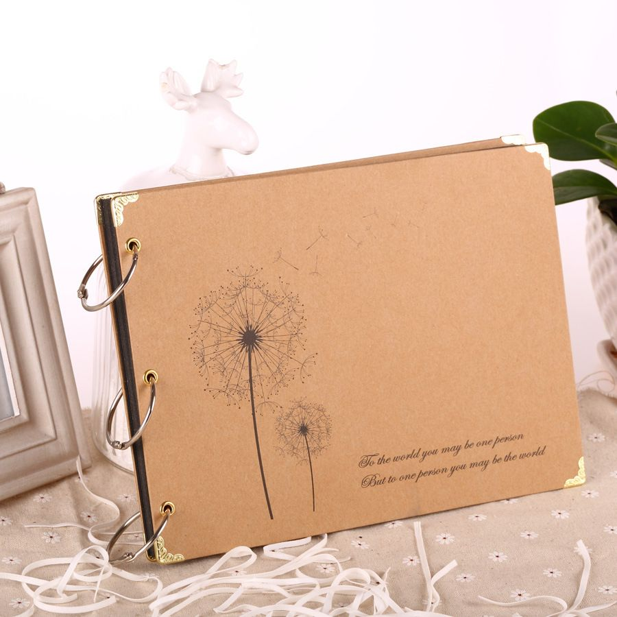 New Creative DIY 10 Inch Paper Photo Albums Manual Family Album Newborn Gifts Baby Lovers Memory Picture Albums Free Ship
