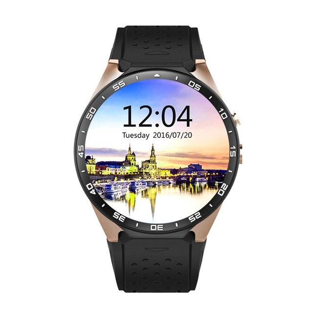 Kingwear KW88 Smart Watch android 5.1 OS Phone 1.39 Inch Screen SmartWatch 3G Calling 2.0MP Camera Pedometer Heart Rate