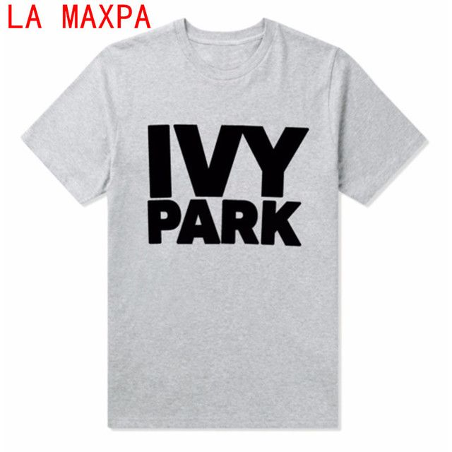 2017 New T-Shirts For Women paragraph IVY PARK Printing Ladies Loose Short Sleeve Round Neck T-Shirt Top Female