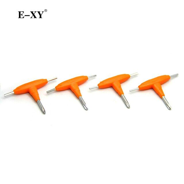 E-XY 10pcsT-shaped screwdriver E-Cigarette Accessories DIY tools for RDA RBA Rebuildable Atomizer Tank Heating wire coils DIY