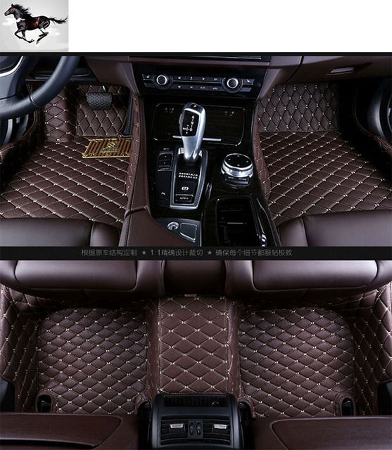 Topmats car floor mats for BMW 6 Series waterproof leather 3d floor mats custom fit carpets cargo floor mats car mat set