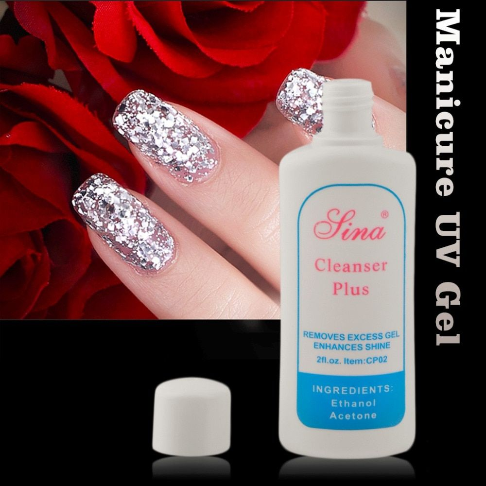 UV Gel Nail Art Excess Gel Soak Off Remover cleanser plus Cleaning Enhances Shine Suitable For Professional Or Home Use Hot