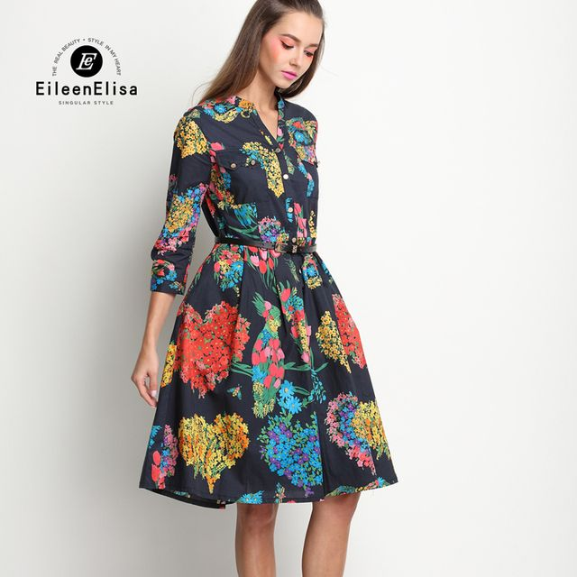 Runway Spring Dress 2017 Brand Women Dresses EE Luxury Brand Women Dress Retro Vintage