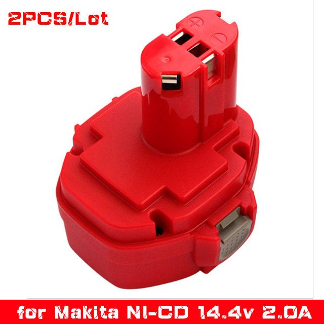 2pcs/Lot Ni-CD 14.4V 2000mAh Power Tools Rechargeable Replacement Battery for Makita Cordless Drill PA14 1433 1434	1435 1435F