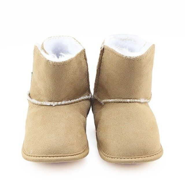 Newborn Baby Winter Boots 2017 Baby Girl Boy Booties Solid Toddler Infantil Shoes Soft Warm Thick Plush First Walker
