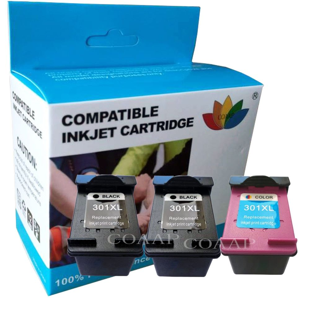 Compatible hp301 Refilled Tri-Colour Ink Cartridge for HP Deskjet 3050se 1050A 2050A 2054A 3050A 3052A 3054A printer