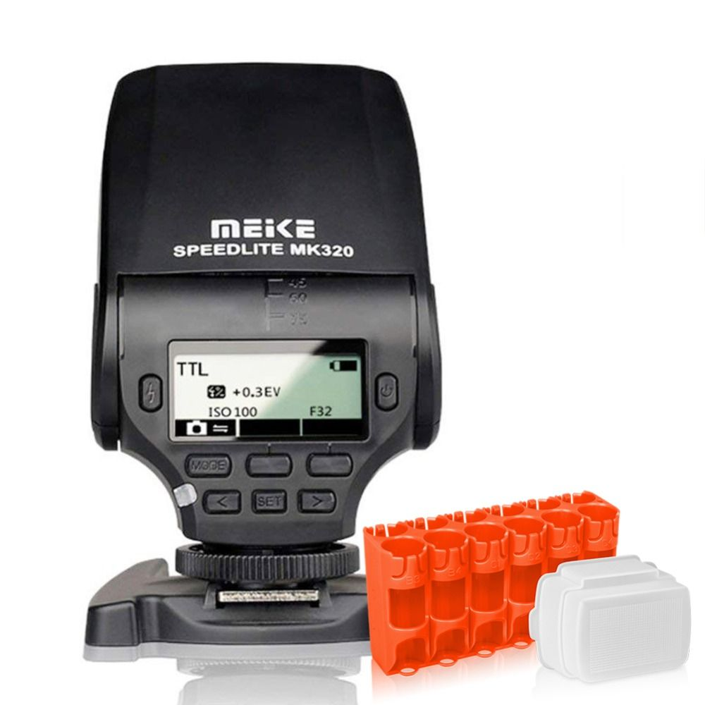 MEKE MEIKE MK-320C Speedlite Flash TTL Fit Canon Mirrorless DSLR Camera 1D Mark series 1DS series 5D Mark II 5D Mark III5D/6D/7D
