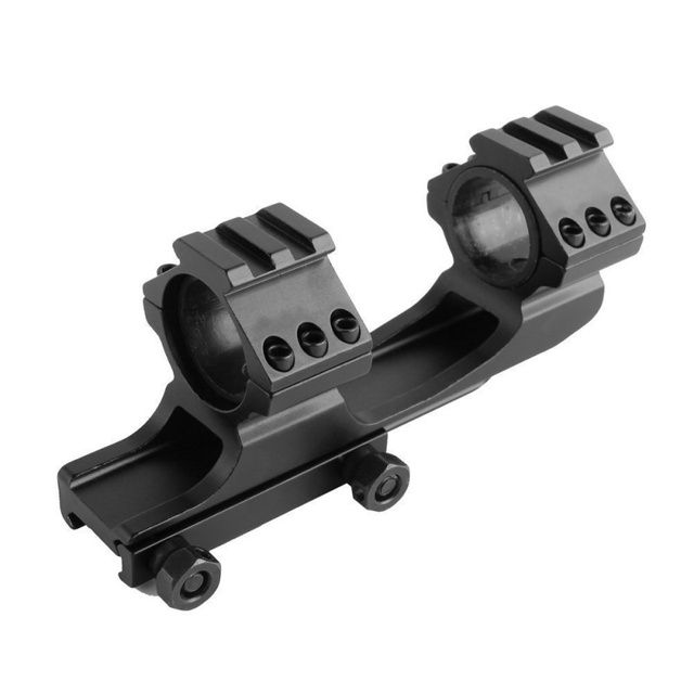 "Outdoor Hunting Rifle New Quick Release Scope Mount 1"" Dual Ring Cantilever Heavy Duty Rail 20mm"