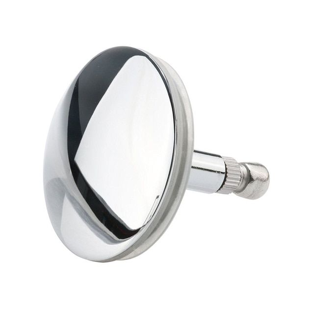 Chrome Bathtub Basin Drain Stopper Plug Bathroom Bath Plug Bathtub Drain Silver