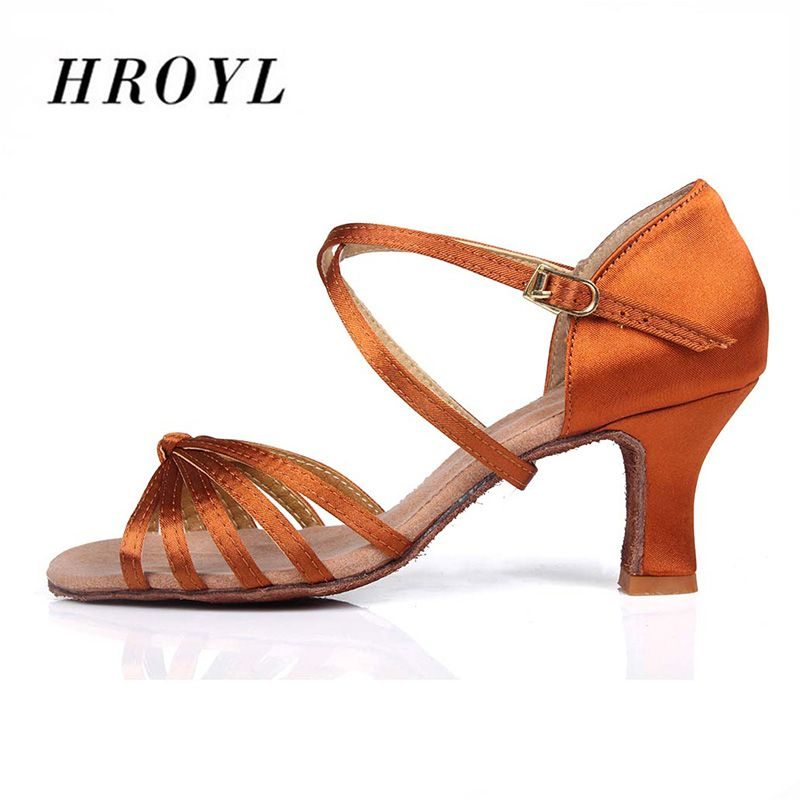 Brand New Brown High Quality Women Latin Dance Shoes for Ladies/Girls/Economic Shoes/Ballroom Shoes Tango Shoes
