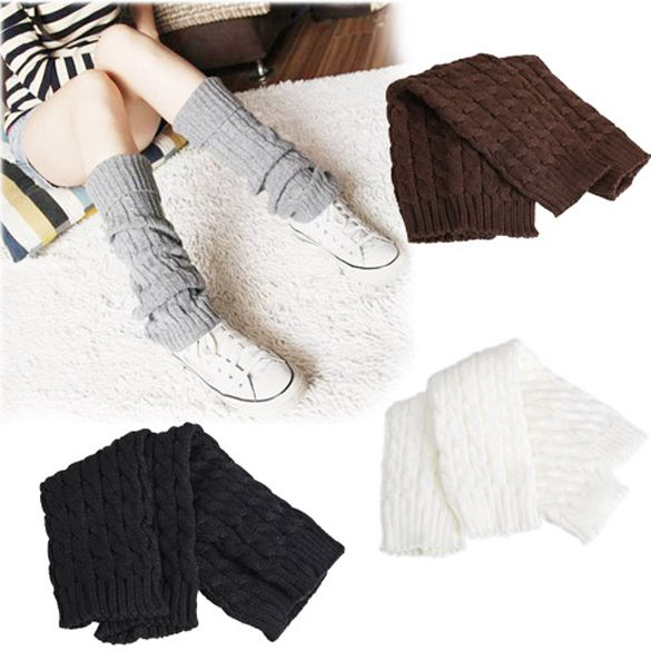 Love Winter Women's Knitting Sleeve Socks Girl's Knit Crochet Boot Cuffs Leg Warmers Gaiters 4 Colors