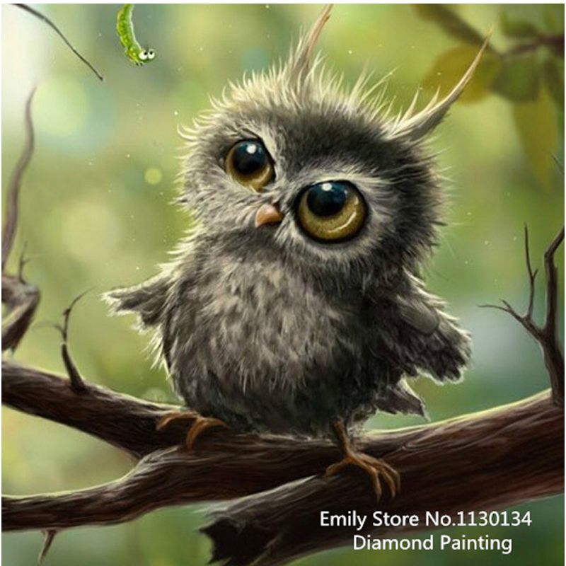 Icon owl Diamond Embroidery New 100% full square drill diamond mosaic painting Home Decoration DP157