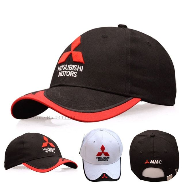 2016 NEW 3D Mitsubishi hat caps car logo moto gp moto racing F1 baseball cap hat adjustable casual trucker hat wholesale