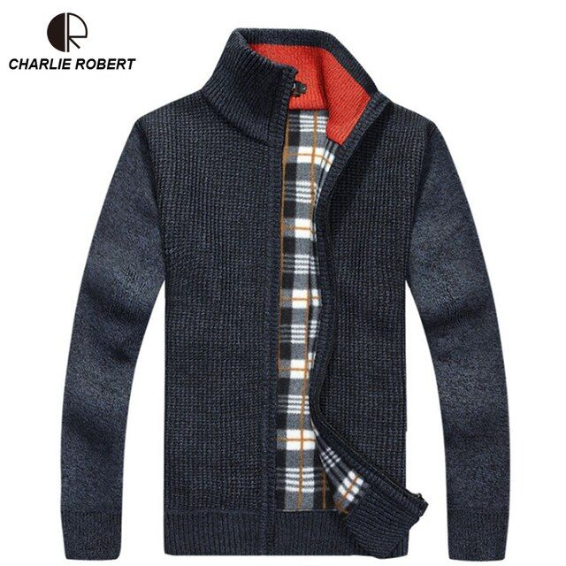2017 Brand Clothing Men's Sweater MK150 Sweatercoat Zipper Collar Casual Cardigan Sweater Men M-3XL Plus Size