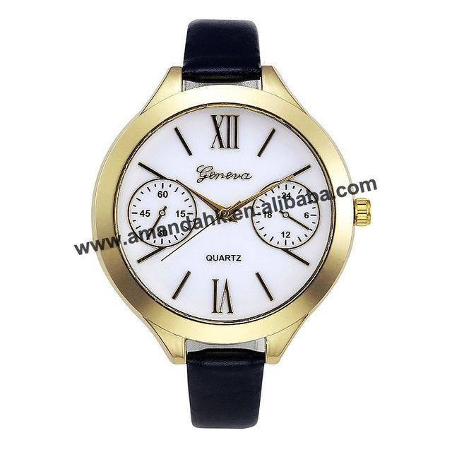 Wholesale Hot Dot Gold Case Watches Thin Leather Cute Quartz Wrist Watch Women Dress Men Women Bracelet Watches 8233