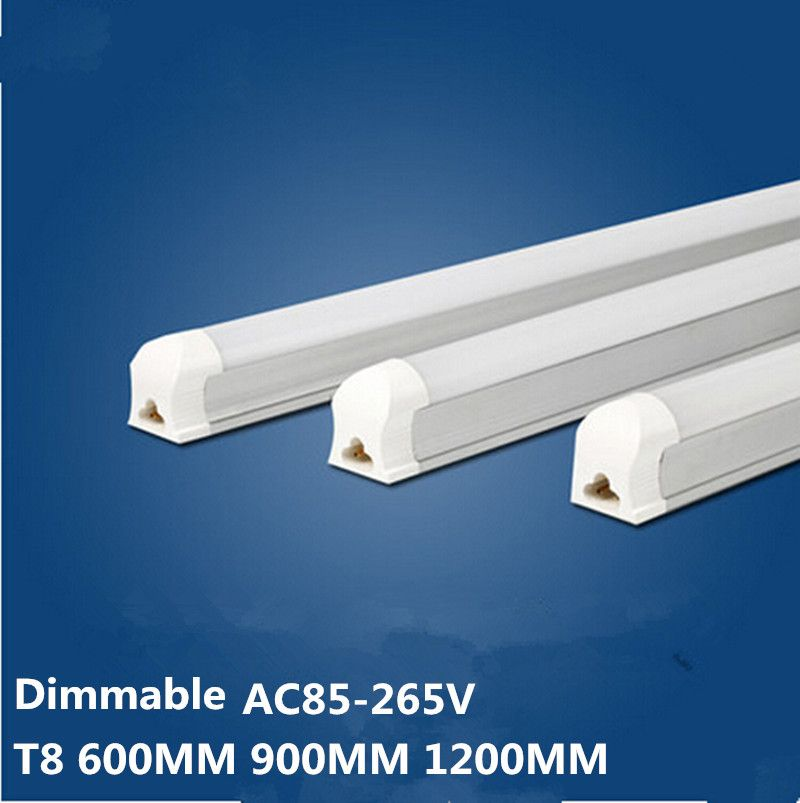 25X Integrated LED Strips 0.6M 0.9M 1.2M 10W 14W 20W 2835 SMD LED T8 Tube Light Warm white Cool white, integrated Tubes