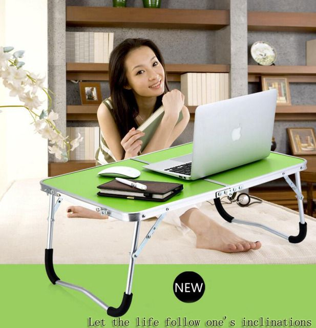 Fashion Portable Folding Laptop Table Picnic Folding Table Laptop Table Stand Computer Notebook Bed Tray S31D5