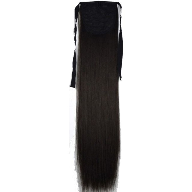 "TOPREETY Heat Resistant B5 Synthetic Fiber 22"" 55cm 90gr Straight Ribbon Ponytail Extensions 60 Colors Available"
