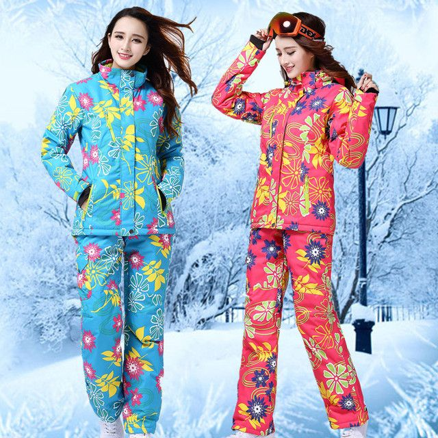 Wild Snow Cheap Ski Suit Winter Suit Germany Skiing clothing Colorful Snowboard Jackets Padded Jacket Women Snow Clothes Warm