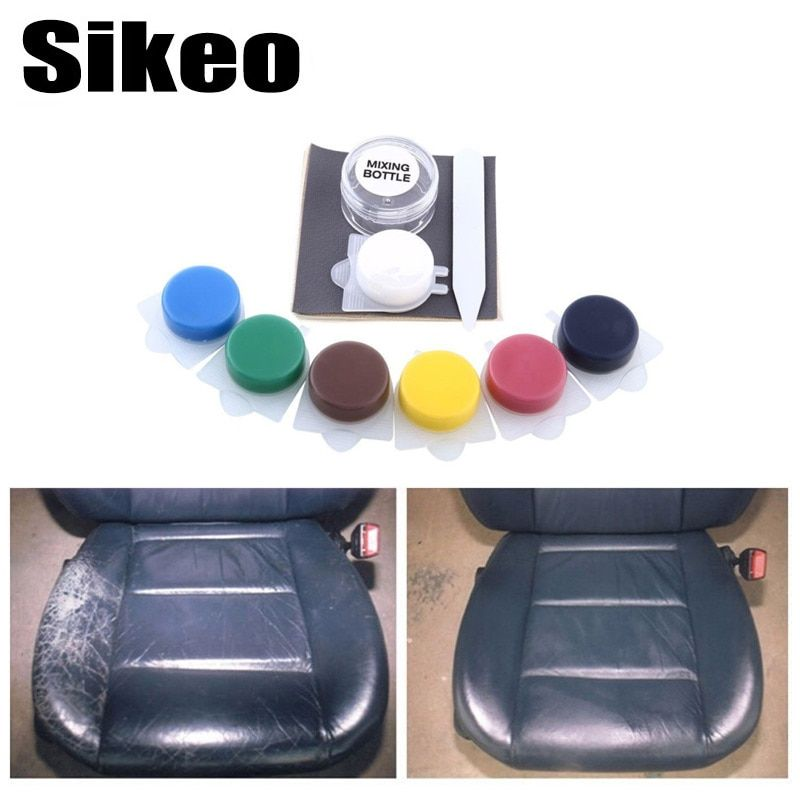 Newest Auto Car Seat Sofa Coats Holes Scratch Cracks Rips No Heat Liquid Leather Vinyl Repair Kit Leather Repair Tool