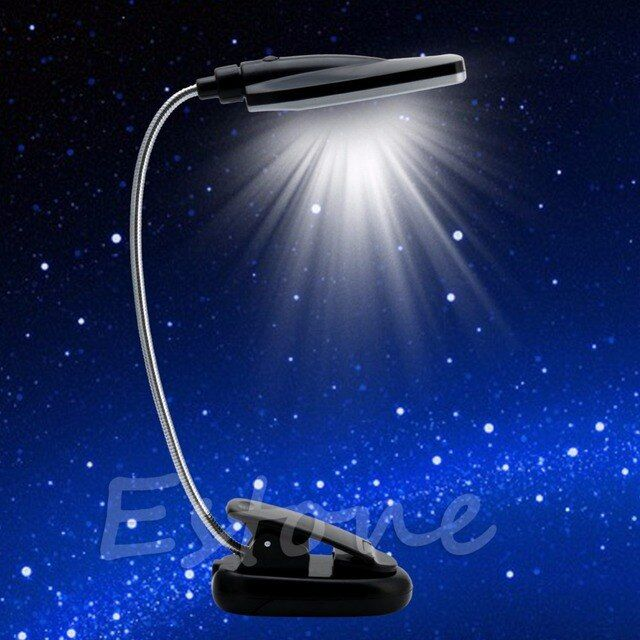 Clip-on Pro Flexible USB/Battery Power 28 LED Light  Bed Table Desk Reading Lamp Great For Traveling