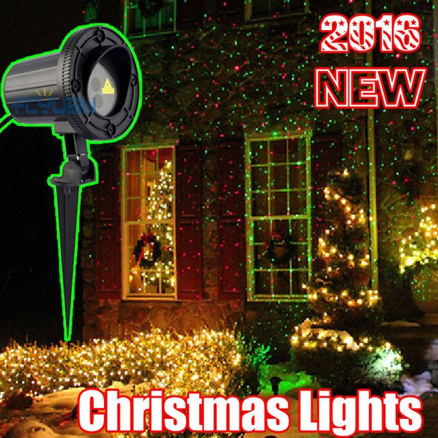 Outdoor Christmas Laser Projector Holiday Lights Waterproof Garden Laser Red Green Color For Home Decoration