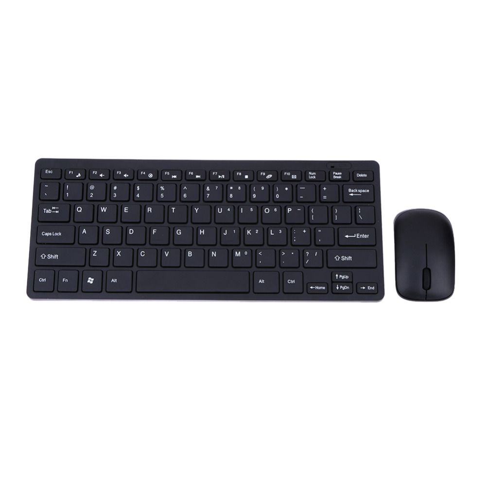 VKTECH Newest Slim 2.4G Wireless Keyboard Optical Mouse+Keyboard Protective Cover Combo Kit for Desktop PC Android Smart TV