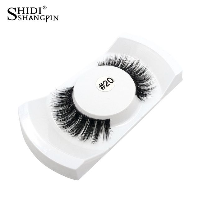 shidishangpin hand made false eyelashes natural long make up false eyelash 3d mink eyelashes full strip lashes makeup lashes #20