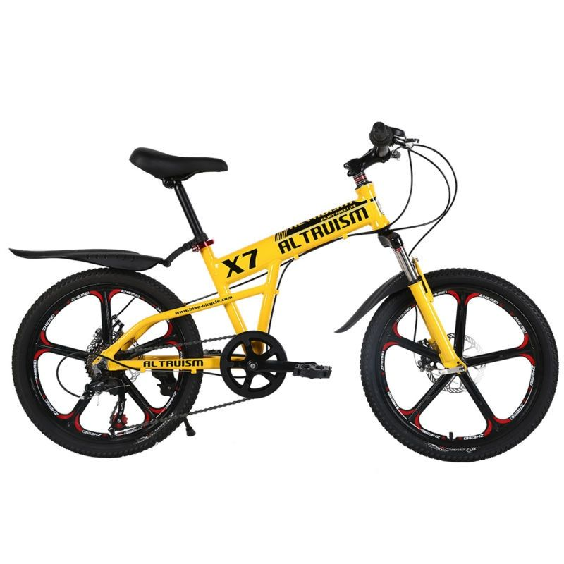 ALTRUISM X7 20inch 7 Speed Bike Mountain Bike Bicycle Child Aluminum Double Disc Brake Bikes Children Bicycles Kid Bike