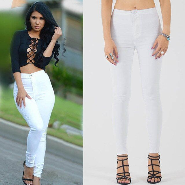 CLONOP Europe And American Light Color Pencil Pants Stretch Slim Was Thin Casual Pants Candy Color Feet Trousers A5550