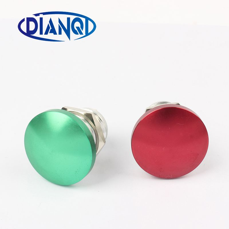 Free shipping 16mm Metal Waterproof Alloy Push Button Switch mushroom Momentary/Latching 1NO Button press button 16MG/HJ.C
