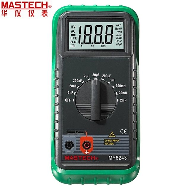 MASTECH MY6243 Portable 3 1/2 1999 count digital LCR Meter inductance capacitance tester
