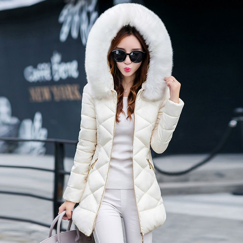 Winter Warm Women Fur Coat Thicken Down Cotton Coat for Woman Coats Long Winter Coat Hooded Women Jackets Outwear Female Parkas