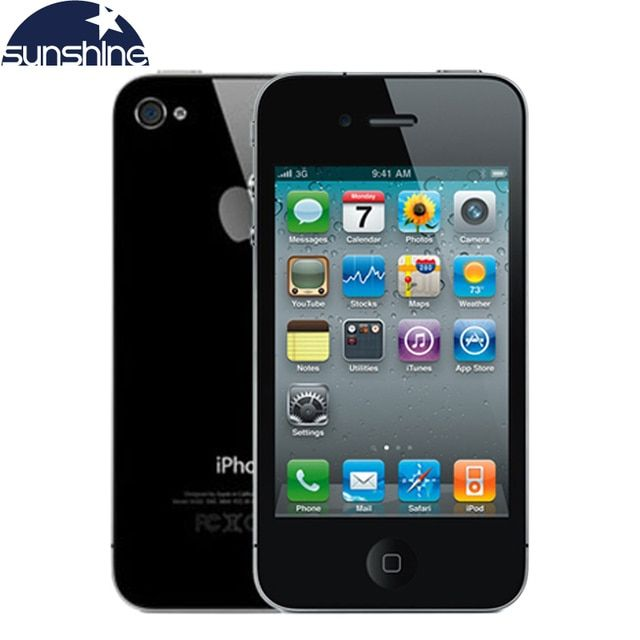 "Original Unlocked Apple iPhone 4 Mobile Phone 3.5"" IPS Used Phone GPS iOS Smartphone Multi-Language Cell Phones"