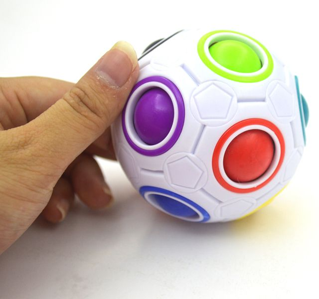 2017 Strange-shape Magic Cube Toy Desk Toy Anti Stress Rainbow Ball Football Puzzles Christmas Gift Stress Reliever