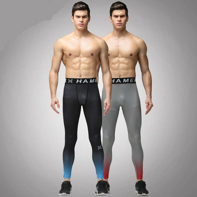 Outwork compression running pants mens athletic sports soccer leggings skinny tights fitness yoga jogging trousers running pants