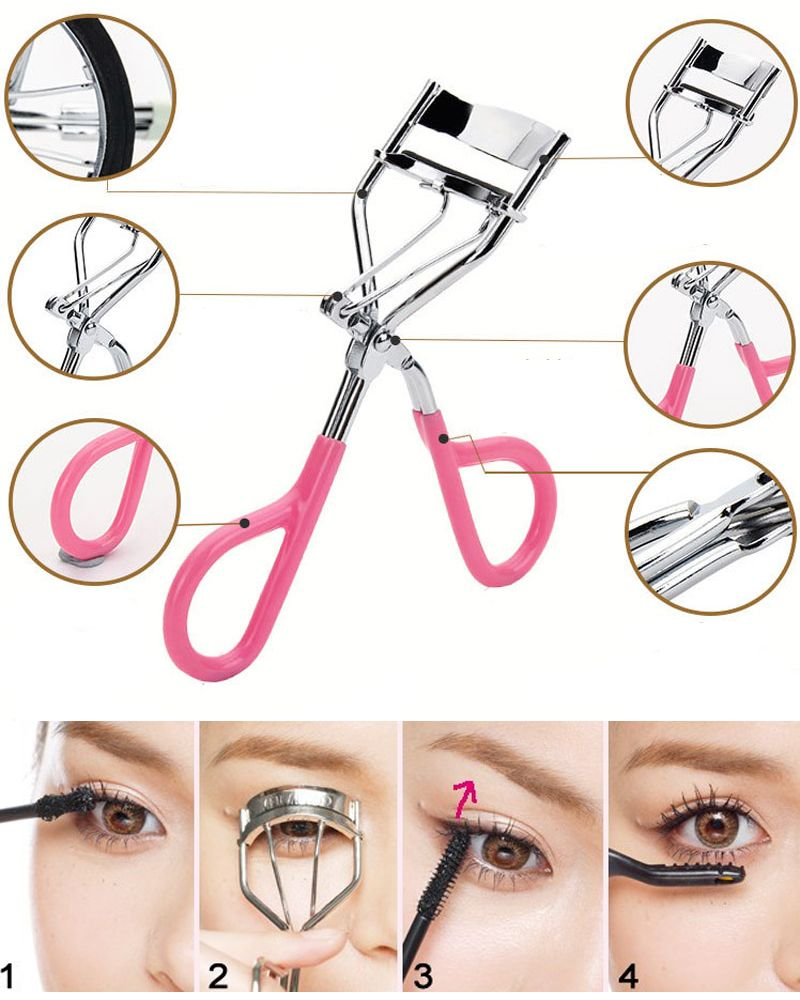 Delicate Women Eyelashes Curler Professional Lash Curler Nature Curl Style Cute Curl Eyelash Curlers- Silver Beauty Tools