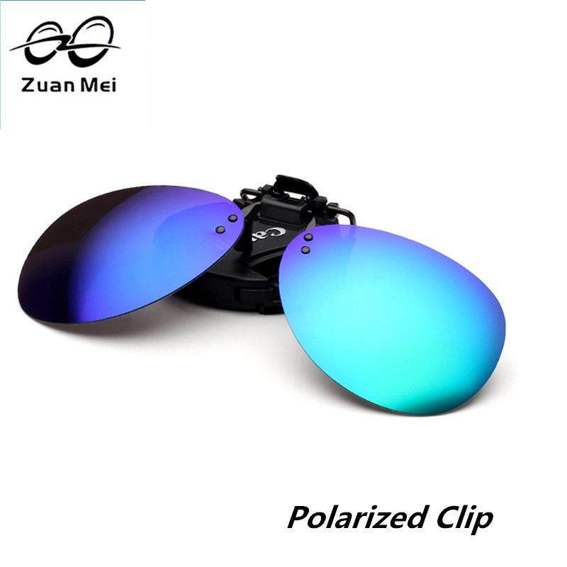 Zuan Mei Brand Polarized Clip On Sunglasses Men Rimless Women Polarized Glasses Clips Night Vision Driving Glasses Clip 2235