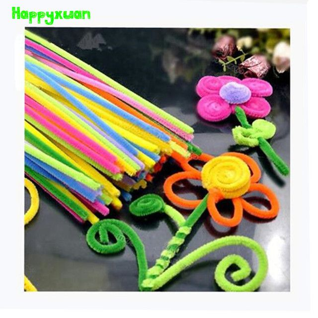 Happyxuan 2packs (200pcs) Multicolour Chenille Stems Pipe Cleaners Handmade DIY Art Craft Material kid Creativity handicraft Toy