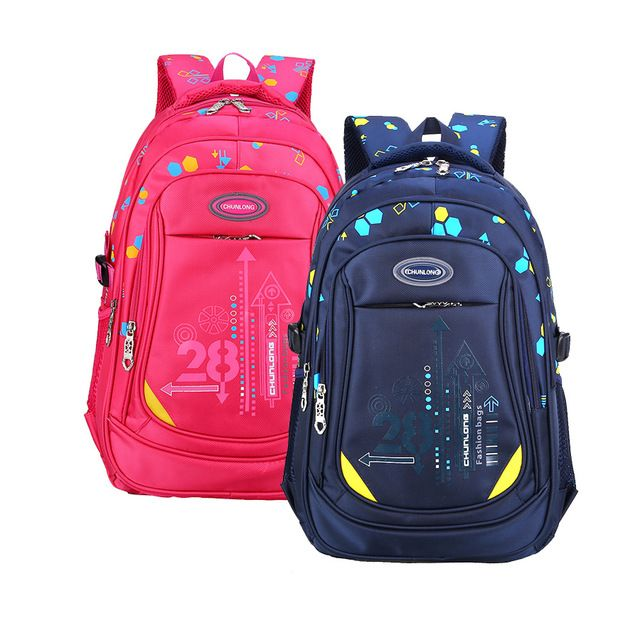 Children Orthopedic School Bags For Girls Boys Nylon Backpack In Primary School Backpacks Mochila Infantil Zip