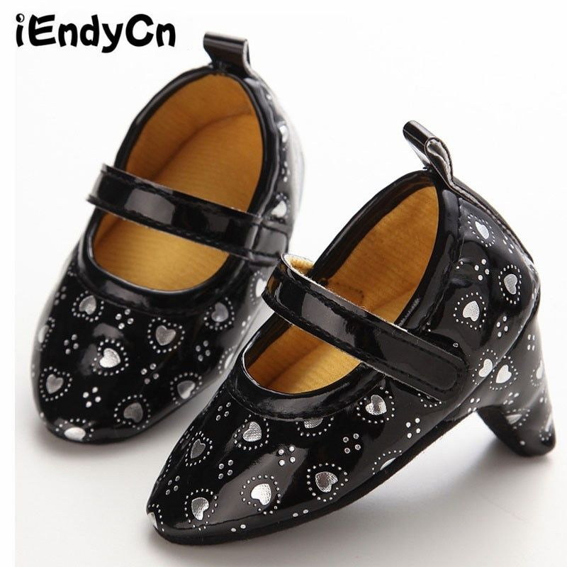iEndyCn Baby Shoes High Heels 0 - 1 - Year - Old Female Baby Shoes Love Fashion Essential YMC016