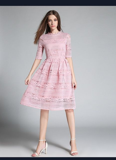 2017 self-portrait style design high quality fashion lace dress splicing cultivate one's morality dress with short sleeves dress