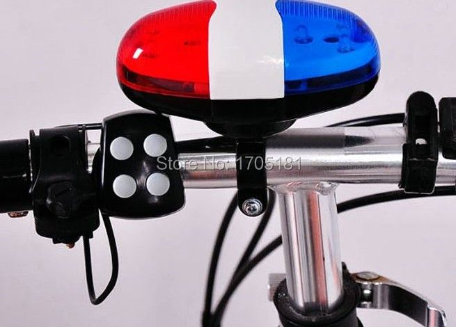 Cycling Electronic Horns 4 Sounds 6Led Warning Light Bicycle Scooter Bell Alarm sirena de la bicicleta Fahrrad Sirene