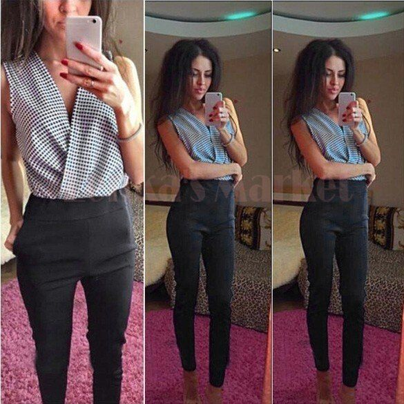 Summer New Fashion 2015 Nightclub Sexy Rompers Women Jumpsuit Bandage Long Pants Sexy elegant Jumpsuits Bodycon Long Pants 50