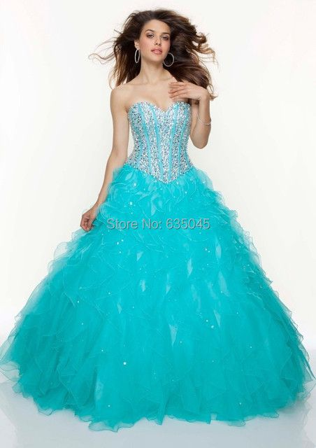 2016 Custom Made Vestido De 15 Anos De Debutante Blue/Purple/Pink/White Beading Crystal Quinceanera Dress Debutante Gowns
